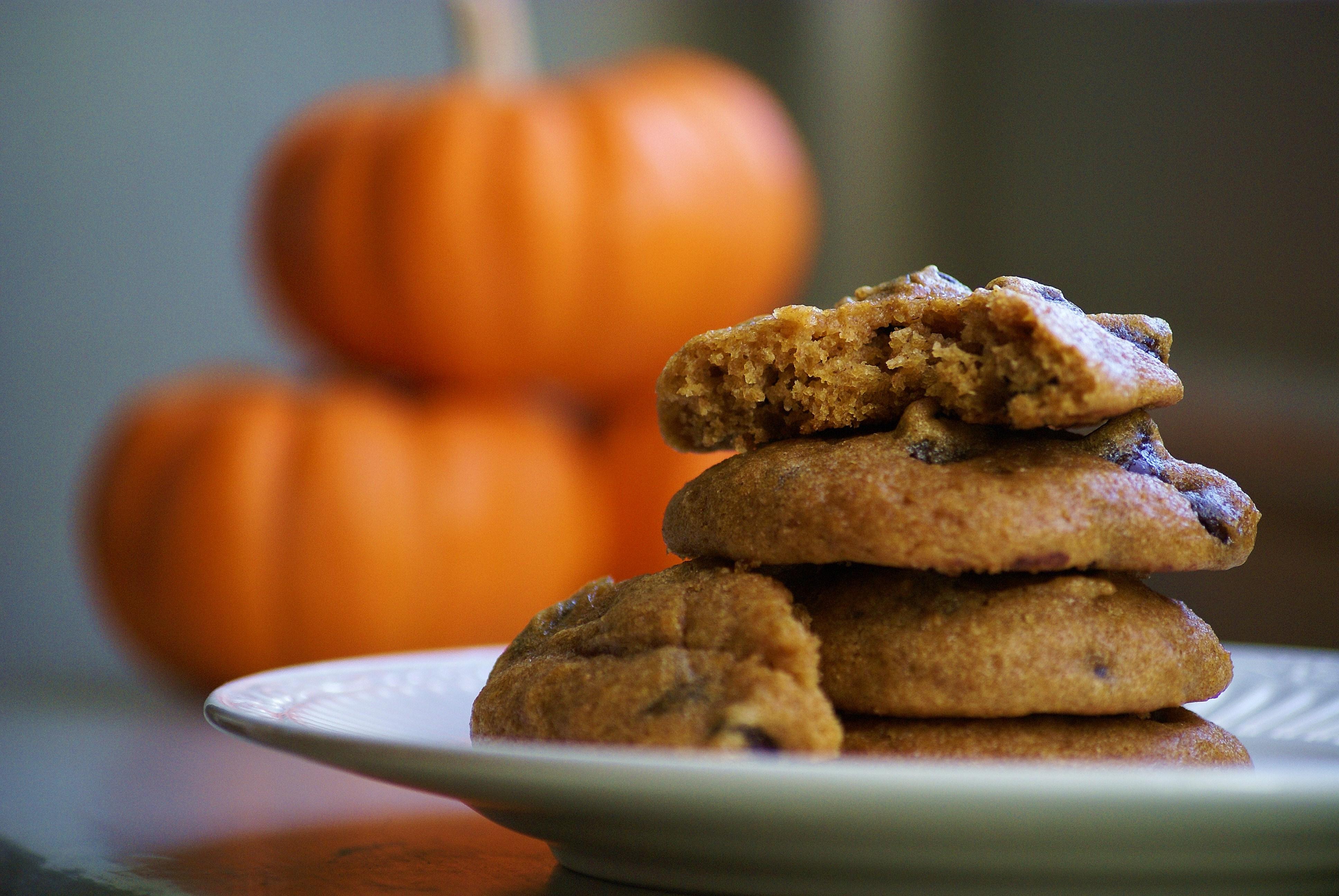 Pumpkin Chocolate Chip Cookies | Whole Eats & Whole Treats